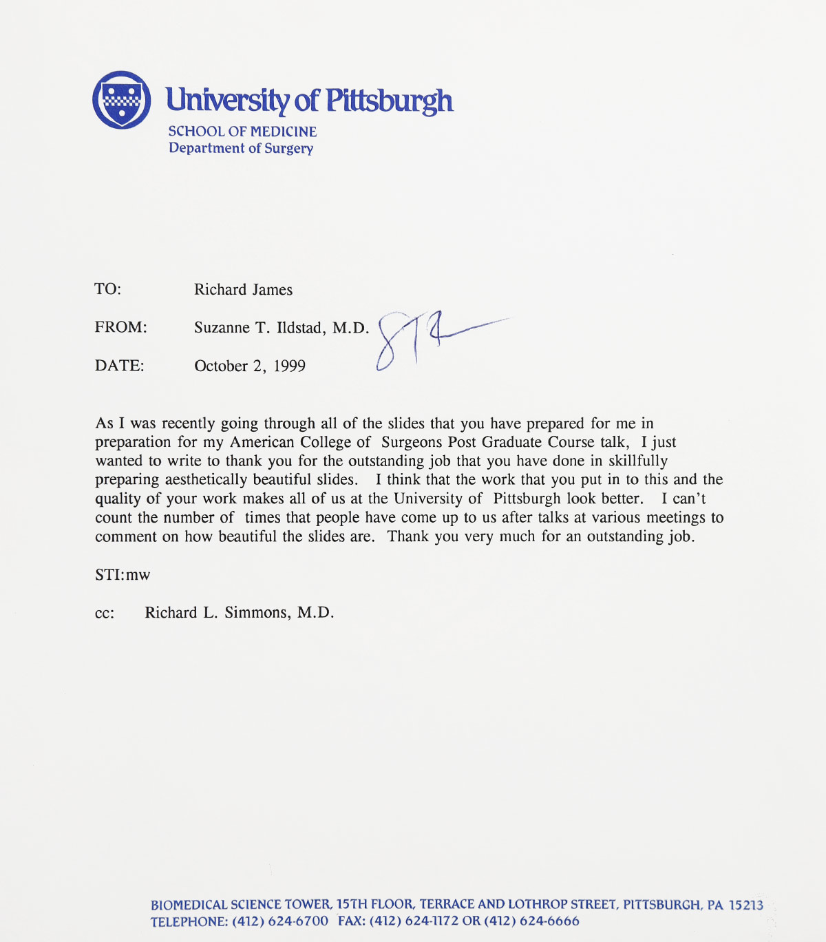 letter of reference peter johnson professor of surgery